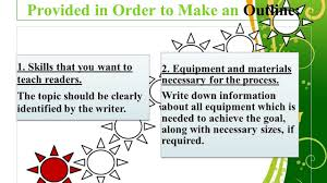 sample process essays process essay outline how to write a process analysis essay with outline sample