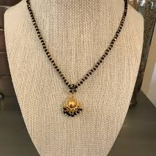 long gold ball necklace images Boutique jewelry gold black beaded crystal ball necklace poshmark jpg