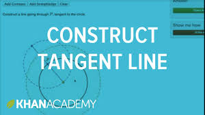 constructing a tangent line using compass and straightedge