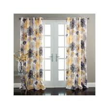 lush decor leah 2 pk room darkening window curtains 52 u0027 u0027 x 84