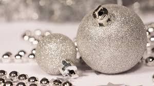 silver christmas ornaments hd desktop wallpaper widescreen