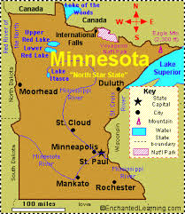 map mn minnesota facts map and state symbols enchantedlearning com