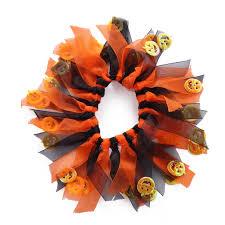pet dog colorful star pumpkin adorned neck collar halloween