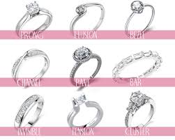 types of engagement rings types of engagement ring settings and styles