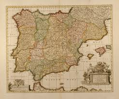 Spain Portugal Map by Hispaniae Et Portugalliae Regna Per Nicolaum Visscher Spain