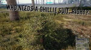 pubg ghillie suit who need a ghillie suit pubg insane moment youtube