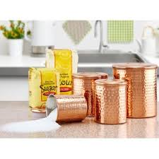 brown canister sets kitchen metal kitchen canisters jars you ll wayfair