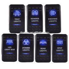 lighted rocker switch 12v china rocker switch 12v 24v zombie light led illuminated waterproof