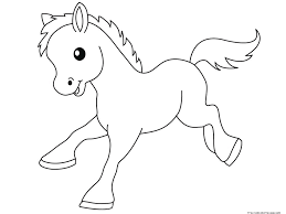 pony baby animals coloring pages for kidsfree printable coloring