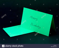 message card for your family and friends happy birthday stock