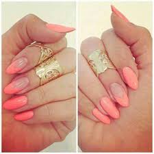 fashion hand rings images Accessories cute fashion girls hand nails art pink rings jpg