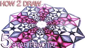 how to draw fractals golden ratio star pattern sacred geometry