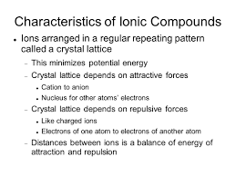 ionic bonding ionic compound composed of positive and negative