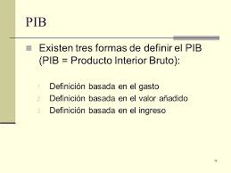 Producto Interior Bruto Capítulo 1 Introducción Ppt Descargar