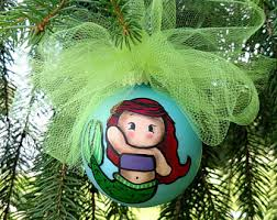ariel ornament etsy