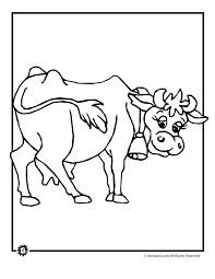 farm animal coloring pages cow woo jr kids activities