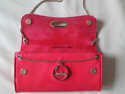 christian louboutin riviera patent leather pink clutch bag purse