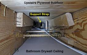 how to replace a bathroom exhaust fan and ductwork drywall ceiling