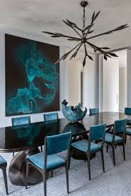 fantastic contemporary kitchen ideas with velvet turquoise chairs