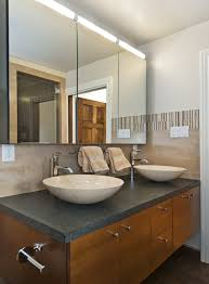 medicine cabinet mirror bathroom contemporary with double cabinets