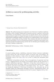 artifacts as sources for problem posing activities pdf download