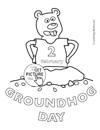 happy groundhog day coloring pages for kids 2 february printable