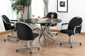 rolling dining room chairs dining room sets with chairs on casters dining chairs with casters