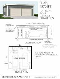 Pdf Garage Construction Plans Plans Free by Two Car Garage With Flat Roof Plan 576 1ft 24 U0027 X 24 U0027 By Behm