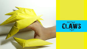 Origami Paper Claws - how to make origami claws how to fold paper claws how to make