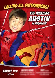 1st Birthday Halloween Invitations by Free Printable Spiderman Invitations Birthday Party Invitation