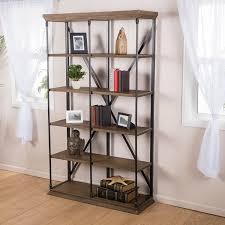 Distressed Wood Bookcase Industrial Bookcase Ikea Moncler Factory Outlets Com