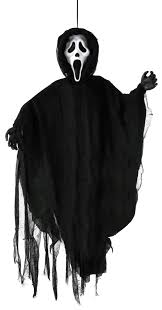 halloween grim reaper prop hanging scream ghost face prop mad about horror