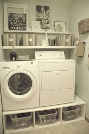 Pedestal For Washing Machine 30 Brilliant Ways To Organize And Add Storage To Laundry Rooms