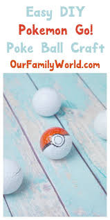 check out super easy u0026 fun diy poke ball craft for kids it u0027s so