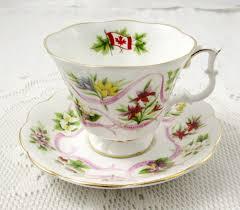 royal albert canadian emblems tea cup and saucer vintage bone