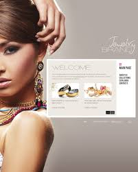 Design Home Page Online Website Template 33801 Jewelry Brand Watch Custom Website