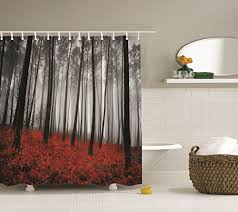 Gray And Red Curtains Showers Curtains Shop For Shower Curtains From A Huge Selection