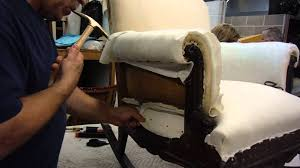 A Class Upholstery Scott Shows Tanya How To Tack Muslin On Chair Arm Pcc Upholstery