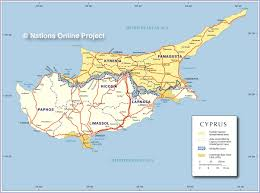 Map Of Southern Europe by Political Map Of Cyprus Nations Online Project