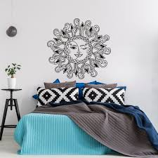 Removable Wall Decals For Bedroom Sun And Moon Vinyl Wall Decal Bedroom Sun Moon Stars Wall