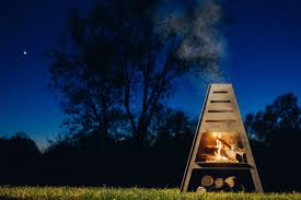 Outdoor Fireplace Chiminea Blaze Tower Metal Chiminea Outdoor Fireplace Fire Pit