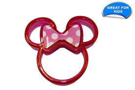 disney minnie mouse sandwich crust cutter pack of 3