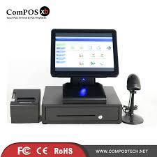 ecran tactile pc bureau écran écran tactile pos système 15 pouce pos tactile tout en