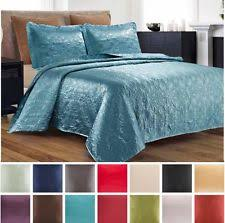 Teal Coverlet Satin Quilt Ebay