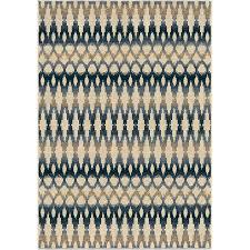 Ikat Indoor Outdoor Rug Shop Orian Rugs Vibrant Ikat Ivory Indoor Outdoor Southwestern