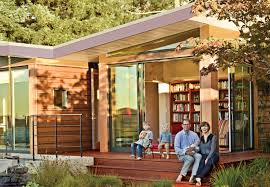 Modular Guest House California A Modern Prefab Addition To A Mid Century California Classic Dwell