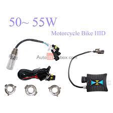 34 99 55w 12v motorcycle bike hid high low beam bi xenon kit slim