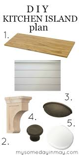 diy kitchen island plans my someday in may