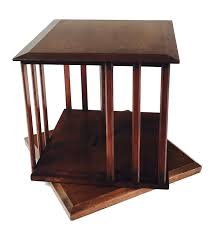 Oak Revolving Bookcase Cotswold Arts U0026 Crafts Walnut Table Top Revolving Bookcase