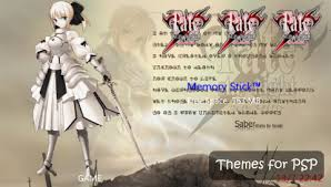 theme psp fate stay night for psp blog psp ctf theme fate stay night